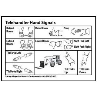 Telehandler & Forklift Hand Signal Card (Packet of 25