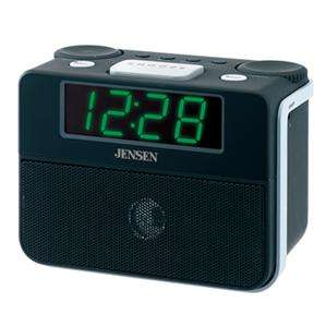 NEW JENSEN AM/FM DUAL ALARM AUTO TIME SET CLOCK RADIO