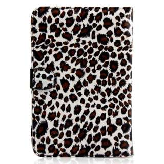 Kindle Fire Wifi eReader Tablet Leopard Faux Leather Case Cover
