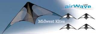 AirWave Light UL   Dark Blue   Dual Line Sport Stunt Kite By Flying
