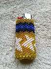Native American Bead Work   Peyote Stitch Beaded Lighter Cover
