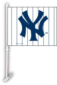 New York Yankees Two Sided Car Flag Wall Mount Window
