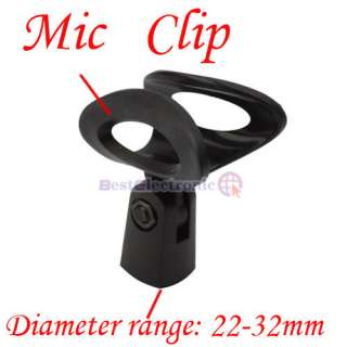 NEW M 5 Microphone Mic Clip Stand Holder Plastic Black