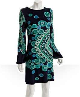 JB by Julie Brown blue magnolia print Benny crewneck dress