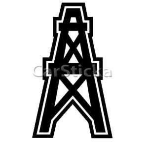 Houston Oilers logo nfl car wall vinyl sticker decal