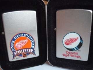 ZIPPO LIGHTERS DETROIT RED WINGS NHL HOCKEY TEAM & STANLEY CUP CHAMPS