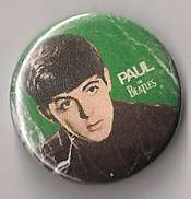 RARE ORIGINAL PAUL MCCARTNEY BEATLES BUTTON/PIN (FREE SHIP)