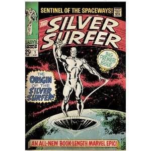 Marvel Comics Retro Silver Surfer Comic Book Cover #1