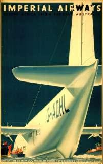 1936 vintage travel & airline poster Imperial Airways