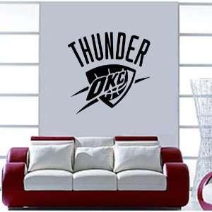 CITY THUNDER NBA Vinyl Decal Sticker / 16 x 16