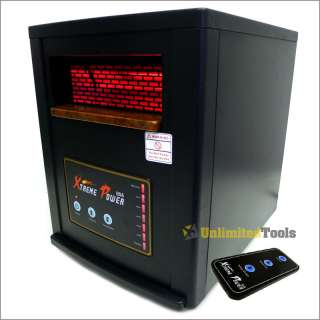 Electric Quartz Infrared Heater 5600BTU Cover 1000 SQ FT Home/Business