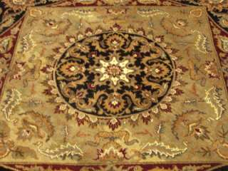 8X8 Beautiful Handmade Fine Quality Wool Round Agra Rug