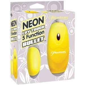 Neon Luv Touch 5 Function Bullet Yellow: Health & Personal Care