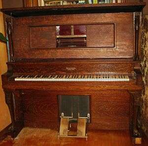 ANTIQUE UPRIGHT PLAYER PIANO GULBRANSEN DICKENSON NEW YORK/CHICAGO