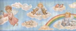 BABY ANGELS ON CLOUDS WALLPAPER BORDER
