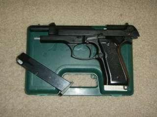 Blank Firing Replica Guns  Model 92 8MM Matte Nickel Starter Pistol