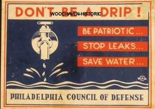 Be patriotic. Stop leaks. Save water. Poster