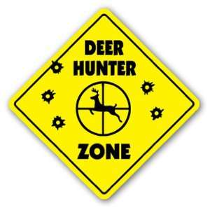 DEER HUNTER ZONE Sign xing gift novelty buck hunt bow tree stand